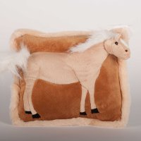 3-D Plush Standing Horse on pillow - Palomino Horse