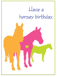 Have a horsey birthday - card