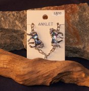 Anklet Trotting Horse with Abalone Inlay