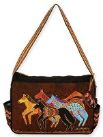 Native Horses Medium Tote by Laurel Burch
