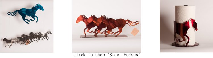 Steel Horses Laser Cut Horse Art and Decor