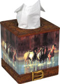 "Tissue Cover - ""Rush Hour"" horse image"