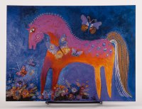 Mystical Mare Birthday card by Laurel Burch