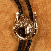 Horseshoe and Horsehead in Gold Bolo