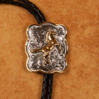 Hand Embossed Rearing Horse in Gold and Silver