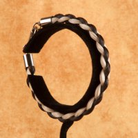 Brown and White Horse Hair Bracelet