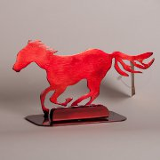 Resin business card holder with horse running horse steel business card holder red powder coat colourmoves