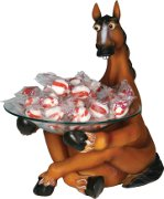 Candy Dish held by funny horse figure