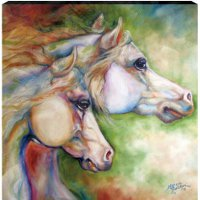 """Gentle Spirits"" Canvas wall art by Marcia Baldwin"