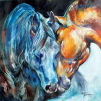 """The Meeting"" Canvas wall art by Marcia Baldwin"