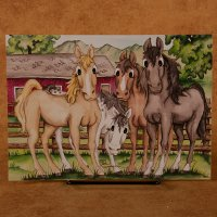 """Horse Corral"" - All Occasion Card"