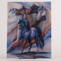 """Five Winds"" Collectors Horse Frame-able Birthday Card"