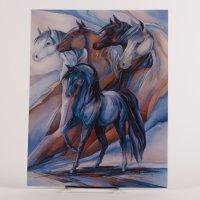 Inspiring Words Card - Horse with 4 horses watching over another