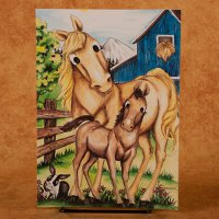 """Foal and Horse"" - All Occasion Card"