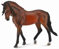Andalusian Stallion Bright Bay - 1:12 Scale Model Horse
