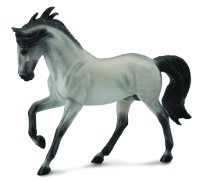 Andalusian Stallion Grey Model Horse Replica