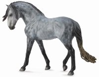 Andalusian Stallion Dapple Grey - 1:12 Scale Model Horse