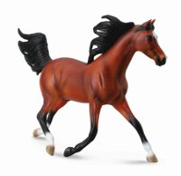 Arabian Stallion Bright Bay - 1:12 Scale Model Horse