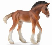 Clydesdale Bay Foal Model Horse Replica