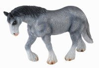 Clydesdale Grey Mare Model Horse Replica