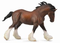 Clydesdale Stallion Bay Model Horse Replica