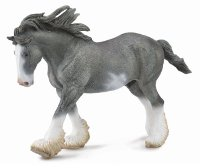 Clydesdale Stallion Blue Roan Model Horse Replica