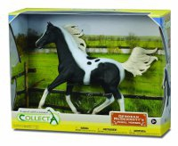 Half Arabian Stallion Pinto horse in Gift Box 1:12 scale Replica