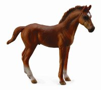 Thoroughbred Foal Chestnut Standing Model Horse Replica