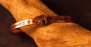 Copper Cuff Bracelet with Trotting Horse XS size