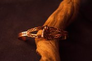 Copper Cuff Bracelet with open design and horse head
