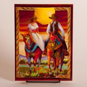 Wedding Wishes Card with Horses
