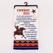 Chili Recipe Flour Sack Kitchen Towel with Cowboy and Horse