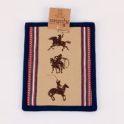 Western Cowboy Pot Holder with lariat and whip