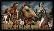 Mustang Horse Collage Tempered Cutting Board
