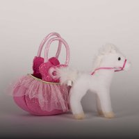 Pink Ballerina Sassy Saks Purse with removable white horse