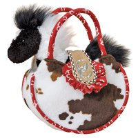 Horse Shoe Western Sassy Saks Purse with Plush Horse
