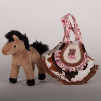 Kicky Boots Sassy Saks Purse with removable Plush Horse
