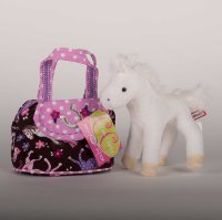 Pink Filly Sassy Saks Purse with Plush Horse