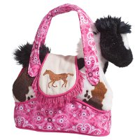 Rodeo Pink Sassy Saks Purse with removable Plush Horse