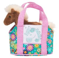 Flower Horse Sassy Saks Purse With Plush