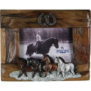 Fir Picture Frame with 4 horses
