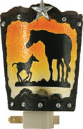 Mare and Foal Night Light