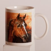 Artistic Mug featuring Handsome Horse with Lightening Bolt Blaze