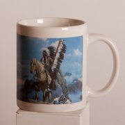 Coffee Mug - Native American Chief and His Horse