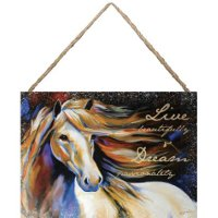 Live Beautifully Hanging Canvas by Marcia Baldwin