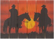 """Happy Trails- Weather Resistant Horse Artwork - 16"" x 22.5"""