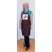 "Brown Kitchen Apron with ""Friends"" Horse Artwork"