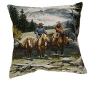 """Clearwater Crossing"" Horse theme Tapestry Pillow"