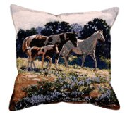 """April Breezes"" Tapestry Horse Pillow"