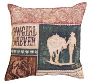 """Cowgirl Forever"" - Horse Tapestry Pillow"